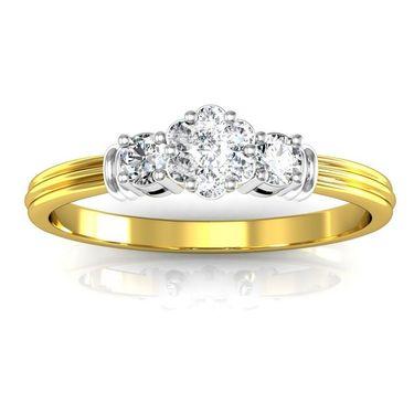 Avsar Real Gold & Swarovski Stone Tejal Ring_I083yb