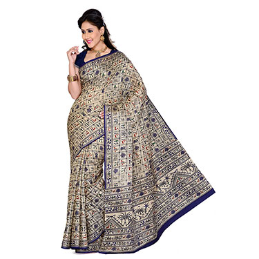 Set of 4 Ishin Bhagalpuri Silk Printed Saree
