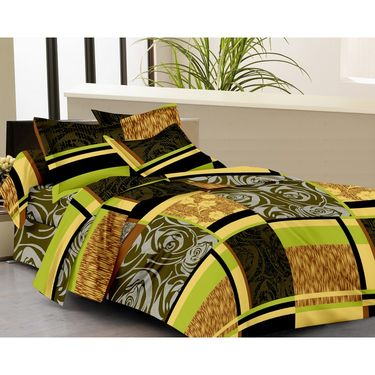 IWS Set of 2 100% Cotton Double Bedsheet with 4 Pillow Cover-IWS-CB-626