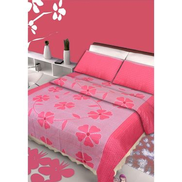 IWS Set of 2 100% Cotton Double Bedsheet with 4 Pillow Cover-IWS-CB-635
