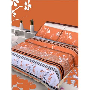 IWS Set of 2 100% Cotton Double Bedsheet with 4 Pillow Cover-IWS-CB-639