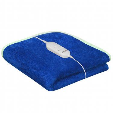 Set of 2 Warmland Electric Single Bed Blanket-Blue & Wine-IWS-EB-05_06