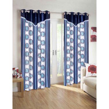 10 Piece Home Decor Combo (IWS 2 Bedsheet with 4 Pillow Covers + 2 Door Curtains + 2 Mats) -IWS-JC-13