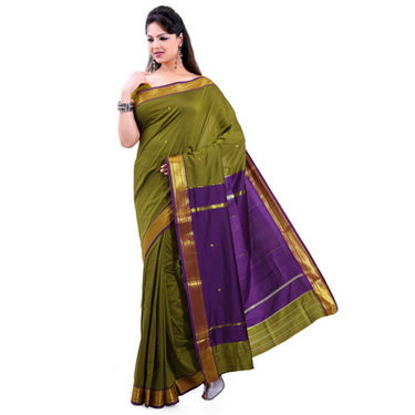 Ishin Poly Silk Paithani Saree (Green) - STCS-23