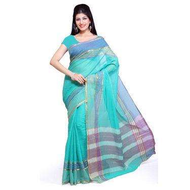 Ishin Cotton Saree - Blue-SNGM-836