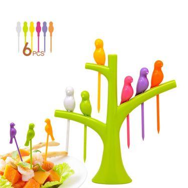 Kawachi Trees Birdie Green Fruit Fork Set k274