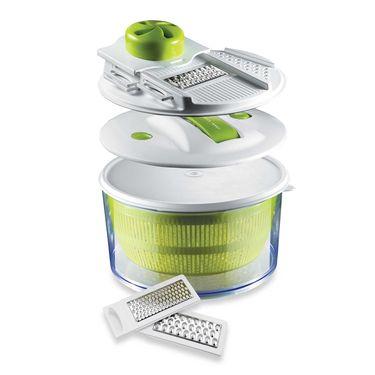 Kawachi  4-in-1 Salad Spinner Set with Mandoline Slicer and Storage Lid-K290