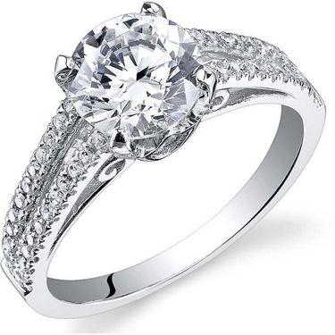 Kiara Swarovski Signity Sterling Silver Pannu Ring_Kir0685 - Silver