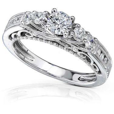 Kiara Swarovski Signity Sterling Silver Swara Ring_Kir0697 - Silver
