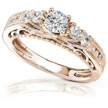 Kiara Swarovski Signity Sterling Silver Swapna Ring_Kir0698 - Golden