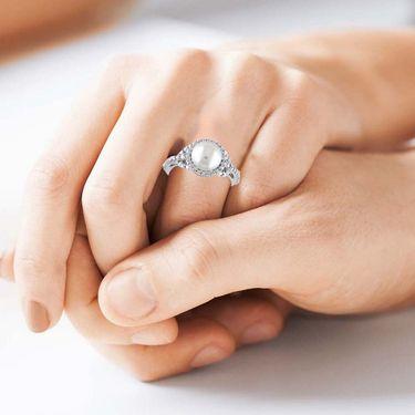 Kiara Swarovski Signity Sterling Silver Pratiksha Ring_Kir0786 - Silver