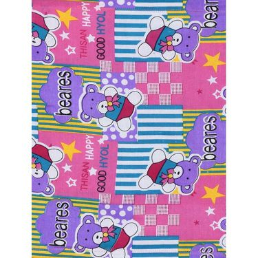 Storyathome 100% Cotton Kids Single Bedsheet with 1 Pillow Cover-KZ1403