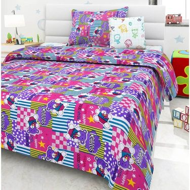 Set Of 2 Single Kids Bedsheet With 2 Pillow Cover -1402-1403