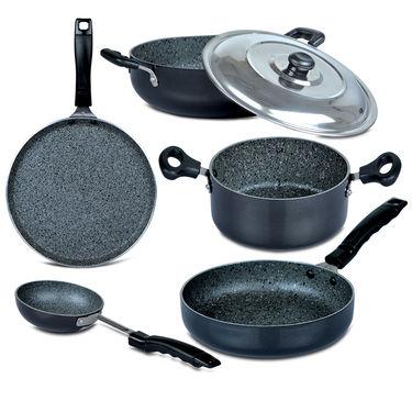 5 Pcs Granite Texture Finish Cookware