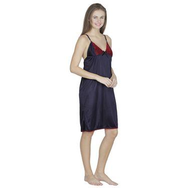 Klamotten Satin Plain Nightwear - Dark Blue - X63_Navy