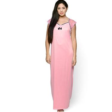 Klamotten Cotton Plain Nightwear - Pink - YY108