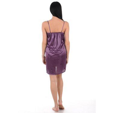Klamotten Satin Plain Nightwear - Purple - YY157
