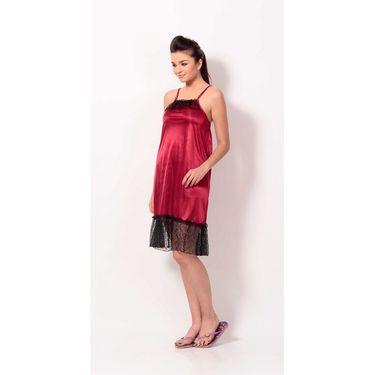 Klamotten Satin Plain Nightwear - Red - YY60