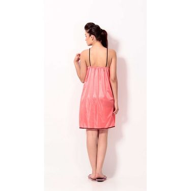 Klamotten Satin Plain Nightwear - PeachPuff - YY61