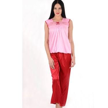 Klamotten Satin Plain Nightwear - Red - YY91