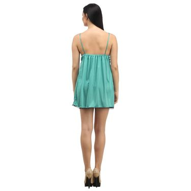 Klamotten Satin Plain Nightwear - Green - YY96