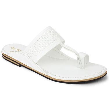 Do Bhai Synthetic Leather Ethnic Kolapuri-141-White
