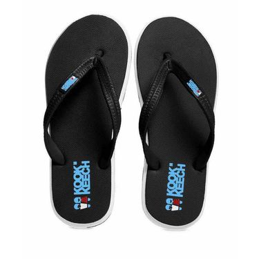 kook N keech  Rubber Slippers  Black