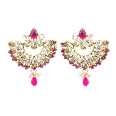 Kriaa Kundan Earrings - Pink _ 1300324