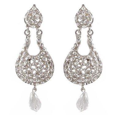 Kriaa Austrian Diamond Drop Earrings - White _ 1300903