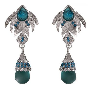 Kriaa Austrian Stone Earrings - Green _ 1301218