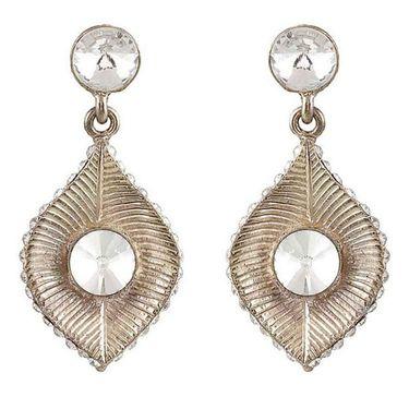 Kriaa Austrian Stone Earrings - White _ 1301414