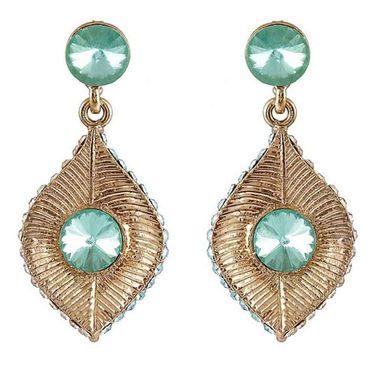 Kriaa Austrian Stone Earrings - Green _ 1301420