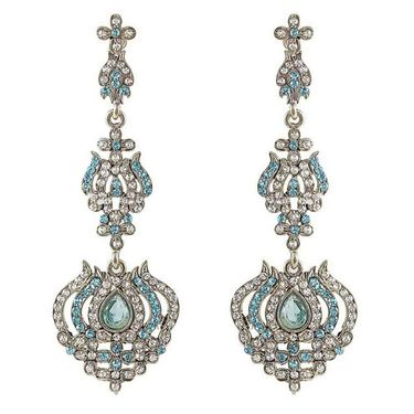 Kriaa Austrian Diamond Earrings - Blue _ 1301431