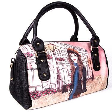 Arisha Leather  Handbags LB182 -Black