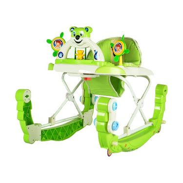 Baby Walker N Rocker Musical with Tray - Green