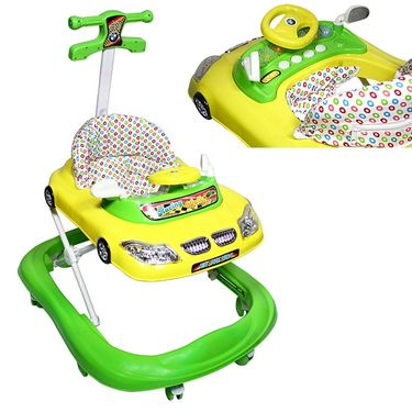 Musical Walker with Lights - Green & Yellow