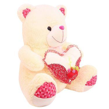 Valentine Stuff Heart Teddy Bear 60 Cms - Cream