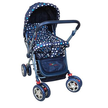 Pram Baby Day Out - Blue Dot