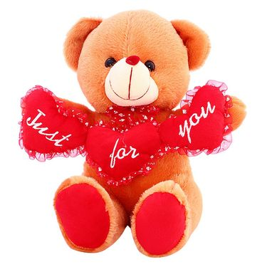 TriHeart Ruby Bear ILU Valentine Stuff Teddy - Brown