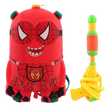 Holi Red Water Pichkari Back Pack Tank Squirter With Tota Gulal Balloons 528A - 4TOTA