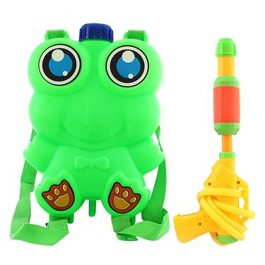 Holi Grey Water Pichkari Back Pack Tank Squirter Frog With Tota Gulal Balloons - 4TOTA