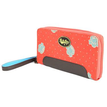 Be For Bag Canvas Orange Wallet -Lanie