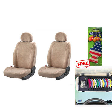 Latest Car Seat Cover for Mahindra Scorpio - Beige