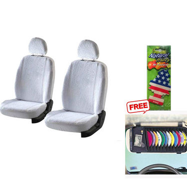Latest Car Seat Cover for Tata Manza - White