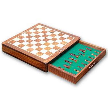 Liana Premium Magnetic 5 Inch Square Chess Board - Brown