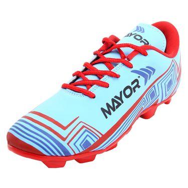 Mayor Sky Blue - Red Casilla Football Studs - 4