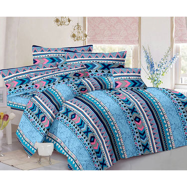 Valtellina Double Bed Sheet with 2 Pillow Cover-MO-190