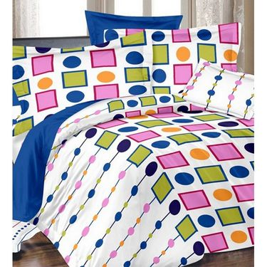 Valtellina Set of 3 Double Bedsheet With 6 Pillow Cover.-MO-22