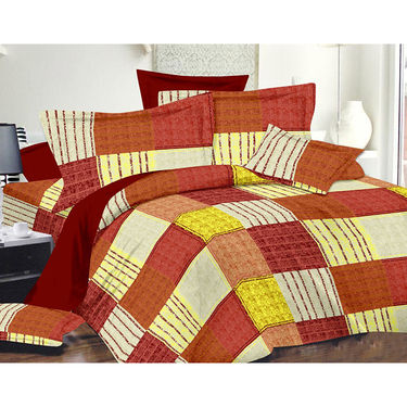 Valtellina Double Bed Sheet with 2 Pillow Cover-MO-280