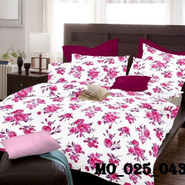 Set of 2 Valtellina Double Bedsheet With 4 Pillow Cover-MO025043